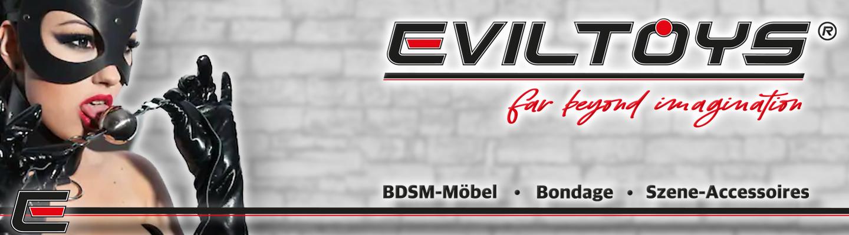 EvilToys - BDSM Möbel und Szene Accessoires, Pranger, Strafböcke, Fickmaschine