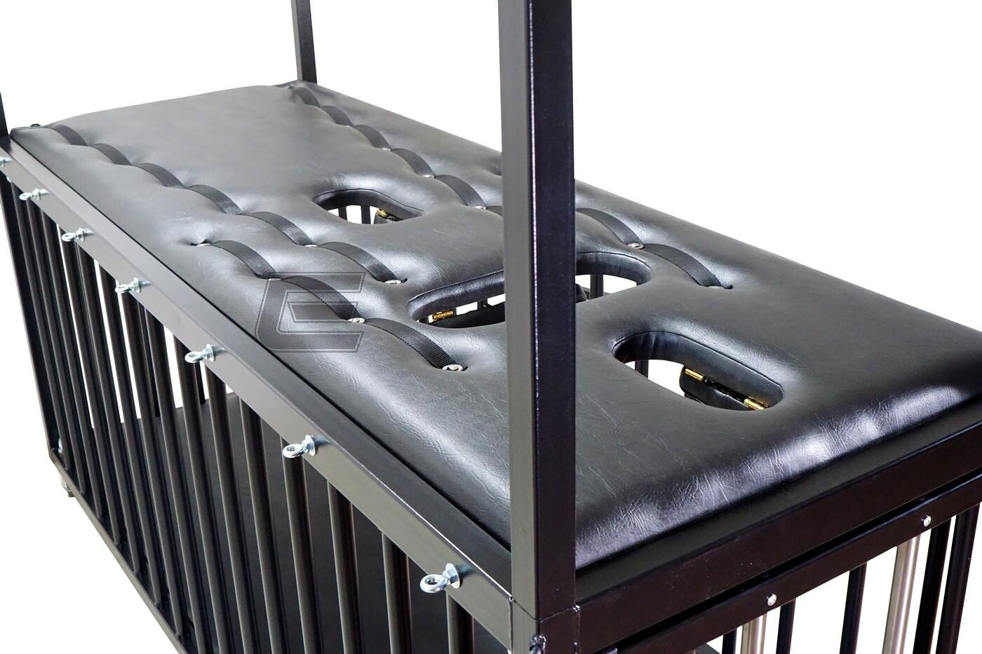 EvilToys - BDSM Bondage Käfig mit aufsetzbarem Bondage-Rahmen